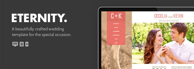 Eternity Wedding Site Template